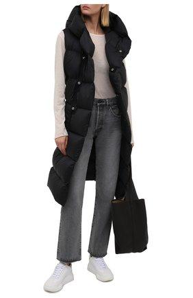 Женский пуховый жилет RICK OWENS черного цвета, арт. RP02A7914/NZD3   Фото 2