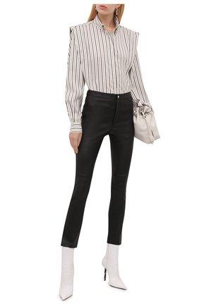 Женская шелковая блузка ISABEL MARANT серого цвета, арт. CH0791-21A018I/S0TALKI | Фото 2