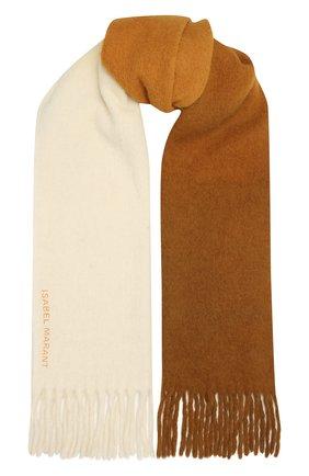 Женский шерстяной шарф ISABEL MARANT желтого цвета, арт. EC0217-21A022A/FIRNA | Фото 1 (Материал: Шерсть)
