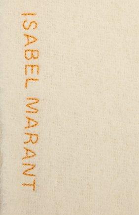 Женский шерстяной шарф ISABEL MARANT желтого цвета, арт. EC0217-21A022A/FIRNA | Фото 2 (Материал: Шерсть)