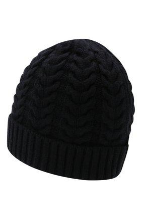Женская кашемировая шапка MOORER темно-синего цвета, арт. ASHLEY-CWS/M0DMA100022-TEPA177 | Фото 2