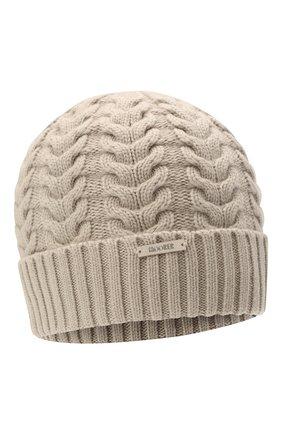 Женская кашемировая шапка MOORER серого цвета, арт. ASHLEY-CWS/M0DMA100022-TEPA177 | Фото 1