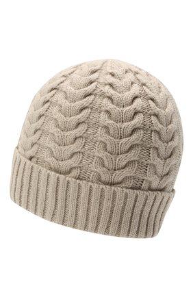 Женская кашемировая шапка MOORER серого цвета, арт. ASHLEY-CWS/M0DMA100022-TEPA177 | Фото 2