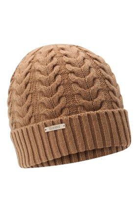 Женская кашемировая шапка MOORER коричневого цвета, арт. ASHLEY-CWS/M0DMA100022-TEPA177 | Фото 1