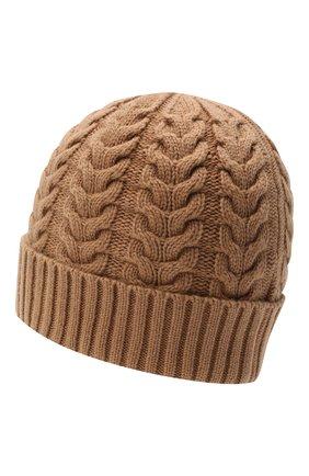 Женская кашемировая шапка MOORER коричневого цвета, арт. ASHLEY-CWS/M0DMA100022-TEPA177 | Фото 2