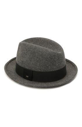 Женская фетровая шляпа SAINT LAURENT серого цвета, арт. 664616/3YH12 | Фото 2 (Материал: Шерсть)