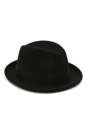 Женская фетровая шляпа SAINT LAURENT черного цвета, арт. 664616/3YH12 | Фото 1