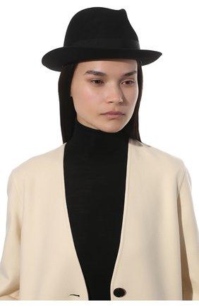 Женская фетровая шляпа SAINT LAURENT черного цвета, арт. 664616/3YH12 | Фото 2