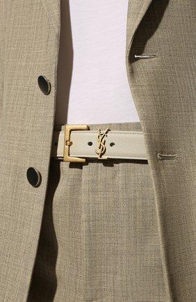 Женский кожаный ремень SAINT LAURENT кремвого цвета, арт. 634437/B000W | Фото 2