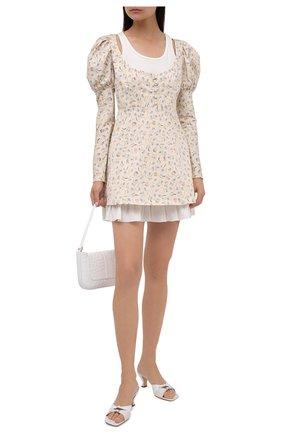 Женское хлопковое платье BOTROIS бежевого цвета, арт. SKU020182   Фото 2