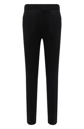 Мужские шерстяные брюки HUGO черного цвета, арт. 50459641 | Фото 1 (Материал внешний: Шерсть; Длина (брюки, джинсы): Стандартные; Случай: Повседневный; Стили: Кэжуэл)
