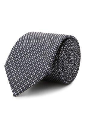 Мужской шелковый галстук BOSS темно-синего цвета, арт. 50461565 | Фото 1