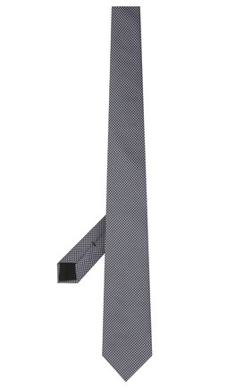 Мужской шелковый галстук BOSS темно-синего цвета, арт. 50461565 | Фото 2