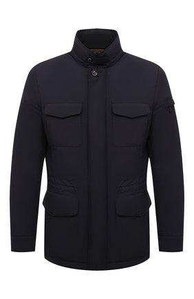 Мужская утепленная куртка leonardo-stp MOORER темно-синего цвета, арт. LE0NARD0-STP/M0UGI100225-TEPA023 | Фото 1 (Материал подклада: Синтетический материал; Рукава: Длинные; Материал внешний: Синтетический материал; Длина (верхняя одежда): Короткие; Кросс-КТ: Куртка; Мужское Кросс-КТ: утепленные куртки; Стили: Кэжуэл)