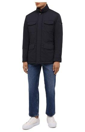 Мужская утепленная куртка leonardo-stp MOORER темно-синего цвета, арт. LE0NARD0-STP/M0UGI100225-TEPA023 | Фото 2 (Материал подклада: Синтетический материал; Рукава: Длинные; Материал внешний: Синтетический материал; Длина (верхняя одежда): Короткие; Кросс-КТ: Куртка; Мужское Кросс-КТ: утепленные куртки; Стили: Кэжуэл)