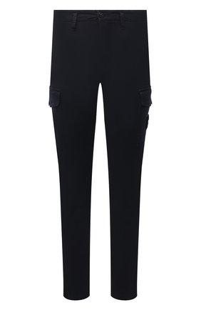 Мужские хлопковые брюки-карго STONE ISLAND темно-синего цвета, арт. 7515318L1 | Фото 1