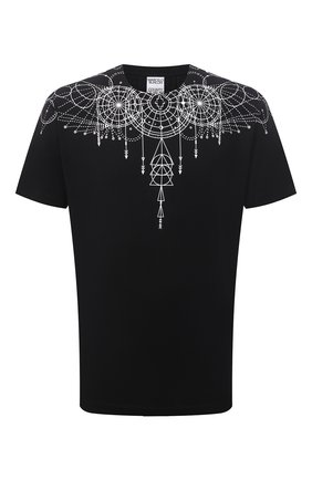 Мужская хлопковая футболка MARCELO BURLON черного цвета, арт. CMAA018F21JER006 | Фото 1 (Материал внешний: Хлопок; Рукава: Короткие; Длина (для топов): Стандартные; Стили: Кэжуэл; Принт: С принтом)