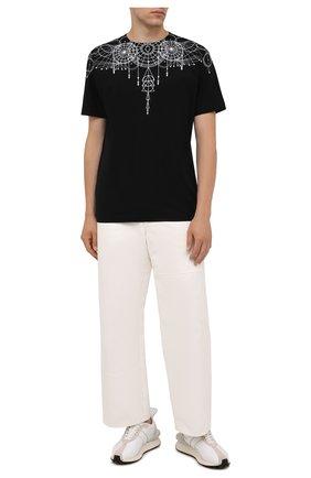 Мужская хлопковая футболка MARCELO BURLON черного цвета, арт. CMAA018F21JER006 | Фото 2 (Материал внешний: Хлопок; Рукава: Короткие; Длина (для топов): Стандартные; Стили: Кэжуэл; Принт: С принтом)