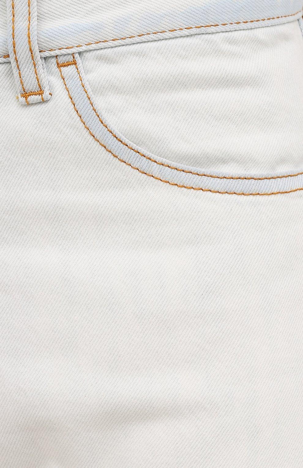 Мужские джинсы MARCELO BURLON белого цвета, арт. CMYA007F21DEN001 | Фото 5 (Силуэт М (брюки): Прямые; Кросс-КТ: Деним; Длина (брюки, джинсы): Стандартные; Материал внешний: Хлопок; Стили: Кэжуэл)
