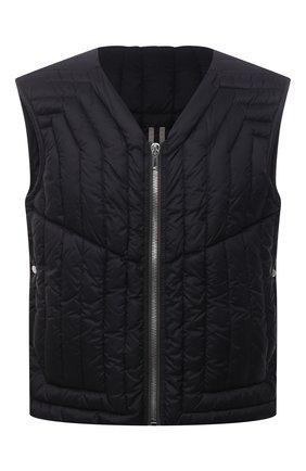 Мужской пуховый жилет RICK OWENS черного цвета, арт. RU02A5740/NZD1 | Фото 1
