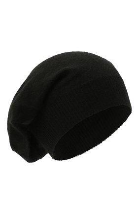 Мужская кашемировая шапка RICK OWENS черного цвета, арт. RU02A5493/WS   Фото 1