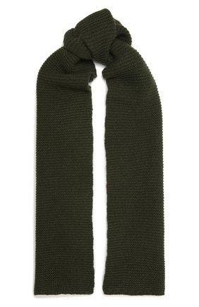 Мужской шарф из кашемира и шерсти RICK OWENS зеленого цвета, арт. RU02A5479/WSBR   Фото 1