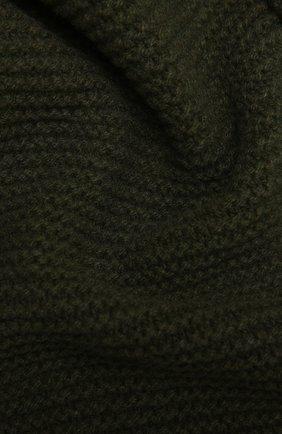 Мужской шарф из кашемира и шерсти RICK OWENS зеленого цвета, арт. RU02A5479/WSBR   Фото 2