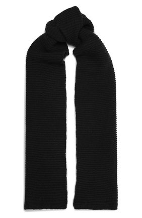 Мужской шарф из кашемира и шерсти RICK OWENS черного цвета, арт. RU02A5479/WSBR   Фото 1