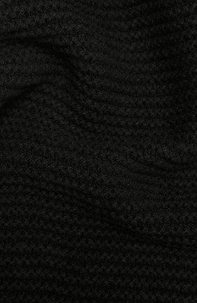 Мужской шарф из кашемира и шерсти RICK OWENS черного цвета, арт. RU02A5479/WSBR   Фото 2