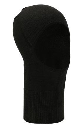 Мужская кашемировая балаклава RICK OWENS черного цвета, арт. RU02A5478/WS   Фото 1