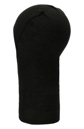 Мужская кашемировая балаклава RICK OWENS черного цвета, арт. RU02A5478/WS   Фото 2