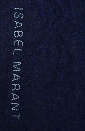 Мужской шерстяной шарф ISABEL MARANT синего цвета, арт. EC0253-21A008J/FIRNA   Фото 2