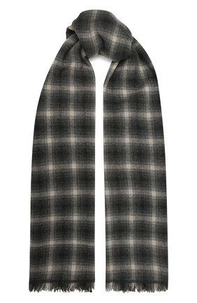 Мужской шарф из шерсти и кашемира ISABEL MARANT серого цвета, арт. EC0237-21A005J/DASH   Фото 1