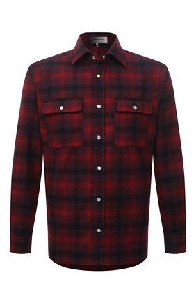 Мужская шерстяная рубашка ISABEL MARANT красного цвета, арт. CH0751-21A026H/RAYAL | Фото 1