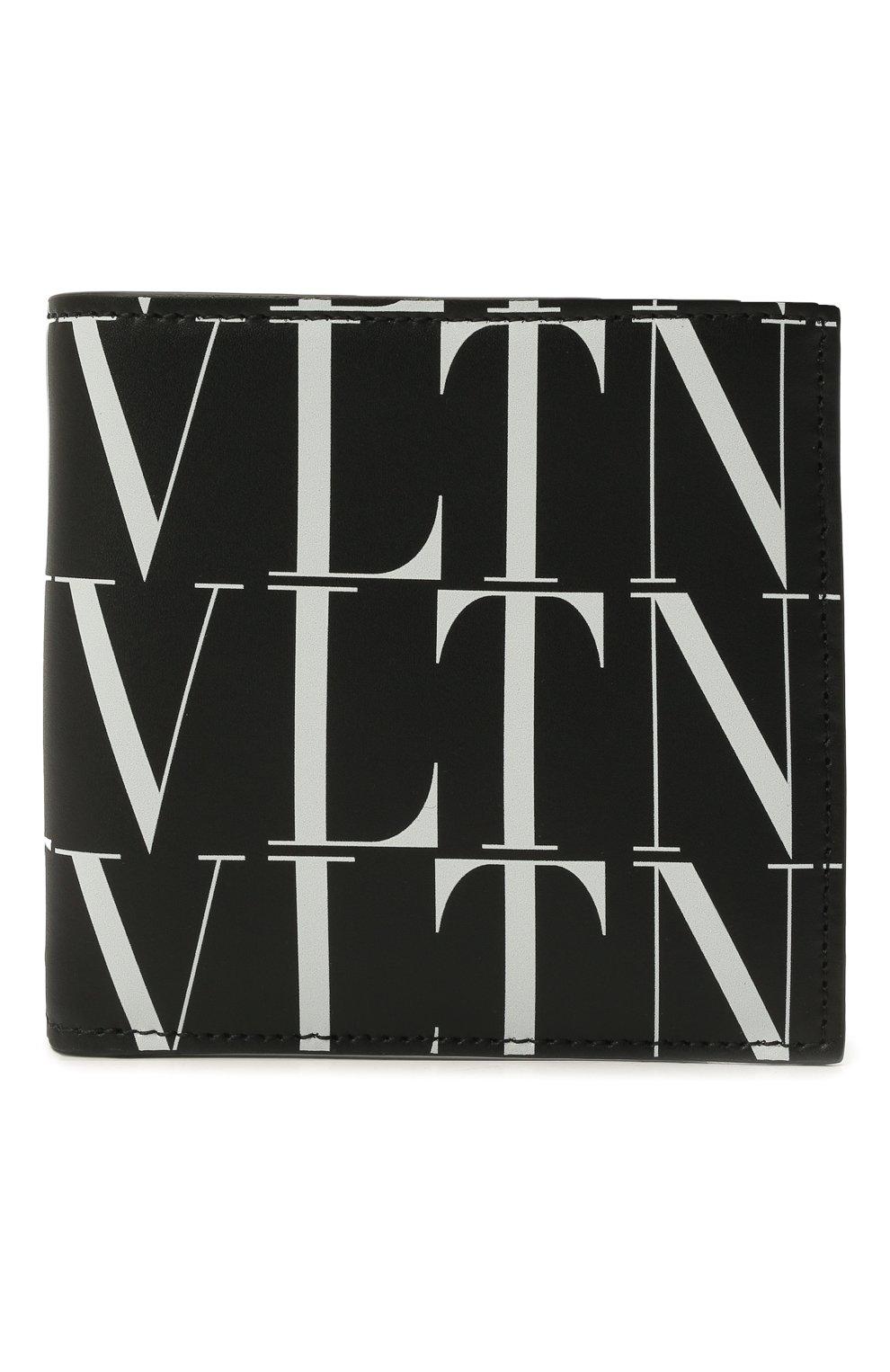 Мужской кожаное портмоне VALENTINO черного цвета, арт. WY2P0654/GTC | Фото 1