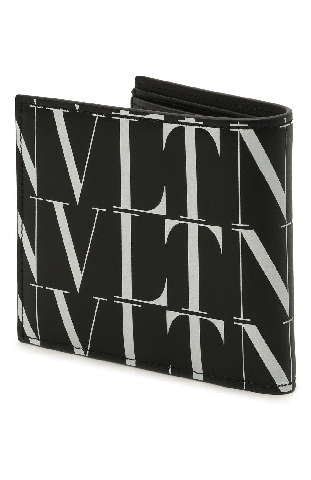 Мужской кожаное портмоне VALENTINO черного цвета, арт. WY2P0654/GTC | Фото 2