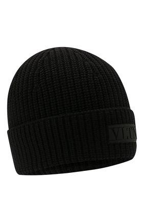 Мужская шерстяная шапка VALENTINO черного цвета, арт. WY2HB00R/RNM | Фото 1