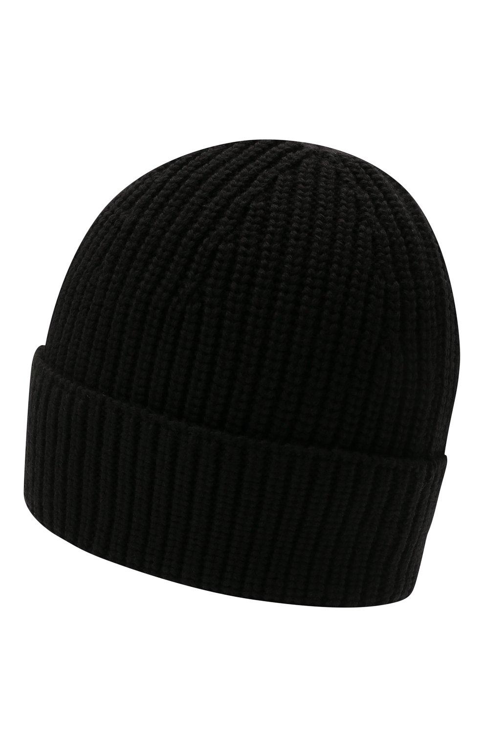 Мужская шерстяная шапка VALENTINO черного цвета, арт. WY2HB00R/RNM | Фото 2 (Материал: Шерсть; Кросс-КТ: Трикотаж)