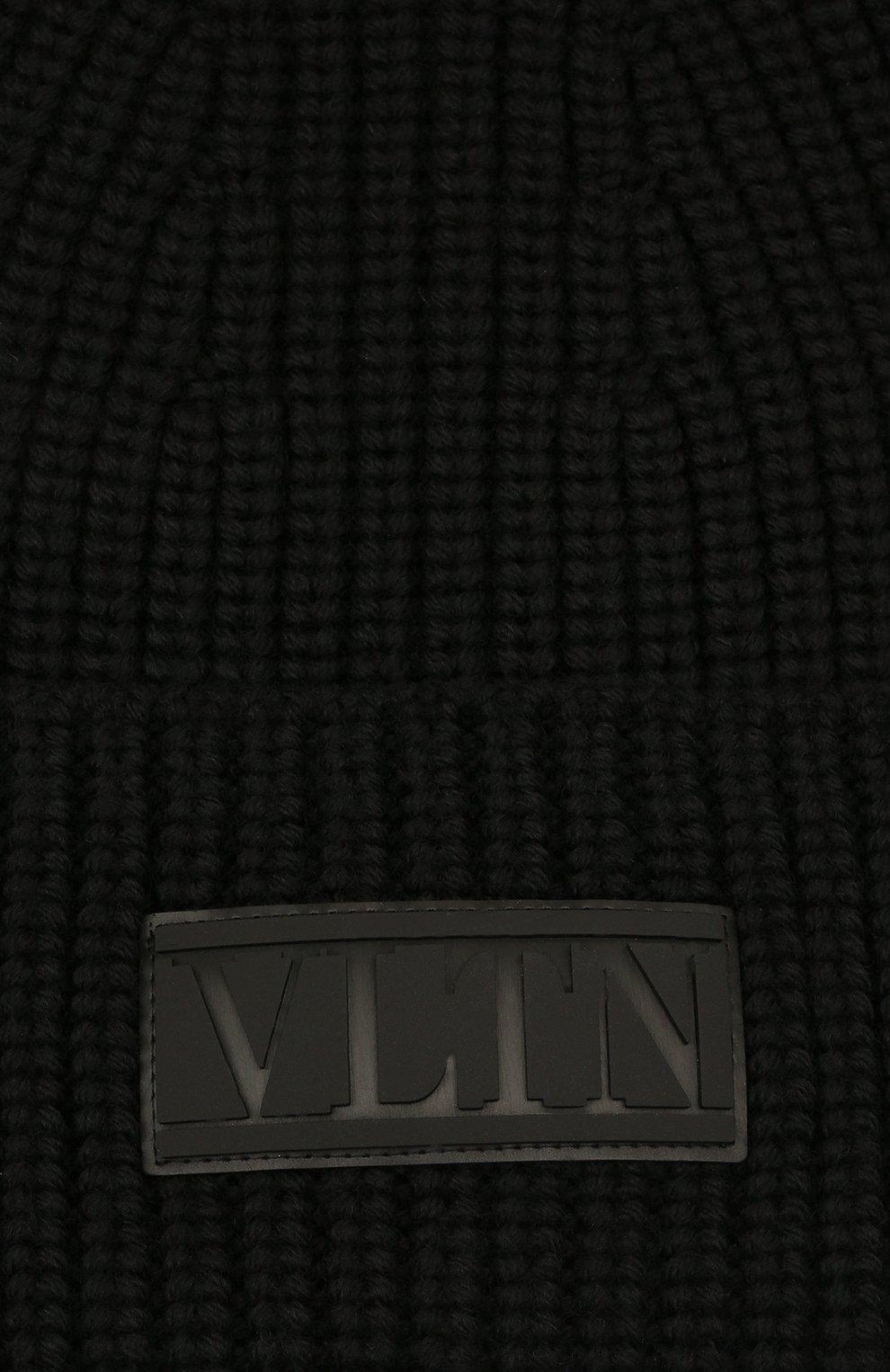 Мужская шерстяная шапка VALENTINO черного цвета, арт. WY2HB00R/RNM | Фото 3 (Материал: Шерсть; Кросс-КТ: Трикотаж)