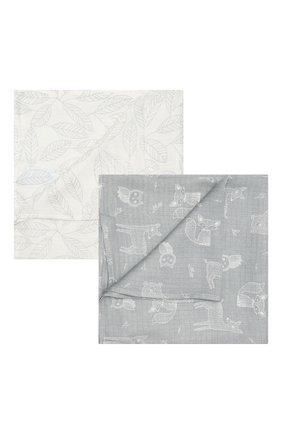Детского комплект из двух пеленок ADEN+ANAIS серого цвета, арт. ESWS20003 | Фото 1