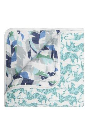 Детского хлопковое одеяло ADEN+ANAIS синего цвета, арт. ADBC10009 | Фото 1