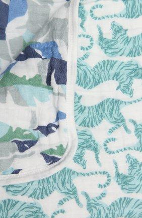Детского хлопковое одеяло ADEN+ANAIS синего цвета, арт. ADBC10009 | Фото 2