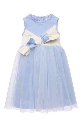 Детское платье александра ZHANNA & ANNA голубого цвета, арт. ZAP02032021 | Фото 1 (Случай: Вечерний; Рукава: Короткие; Девочки Кросс-КТ: Платье-одежда; Материал подклада: Вискоза; Ростовка одежда: 5 лет | 110 см, 7 лет | 122 см, 9 лет | 134 см, 3 года | 98 см)