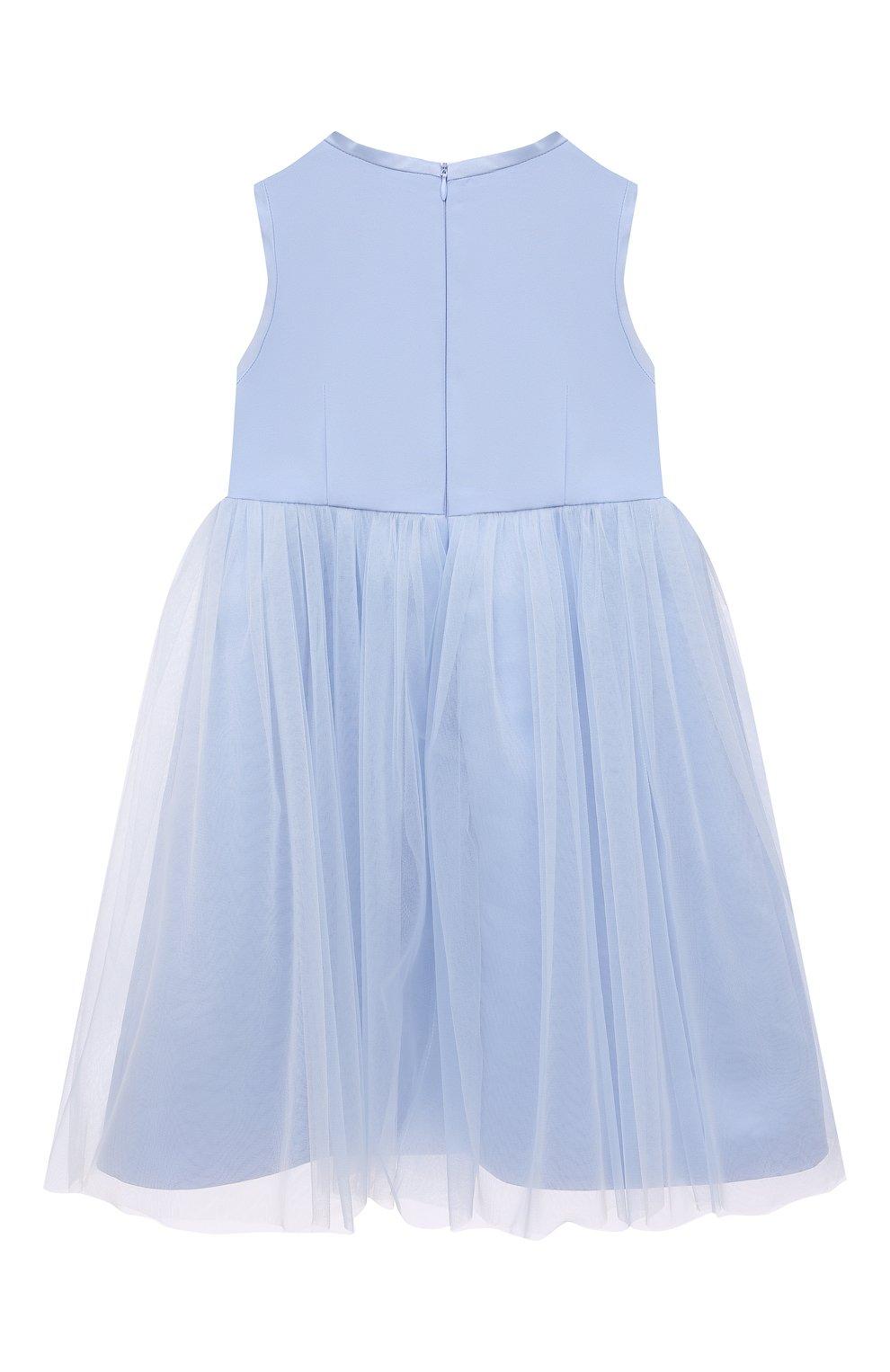 Детское платье александра ZHANNA & ANNA голубого цвета, арт. ZAP02032021 | Фото 2 (Случай: Вечерний; Рукава: Короткие; Девочки Кросс-КТ: Платье-одежда; Материал подклада: Вискоза; Ростовка одежда: 5 лет | 110 см, 7 лет | 122 см, 9 лет | 134 см, 3 года | 98 см)