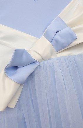 Детское платье александра ZHANNA & ANNA голубого цвета, арт. ZAP02032021 | Фото 3 (Случай: Вечерний; Рукава: Короткие; Девочки Кросс-КТ: Платье-одежда; Материал подклада: Вискоза; Ростовка одежда: 5 лет | 110 см, 7 лет | 122 см, 9 лет | 134 см, 3 года | 98 см)