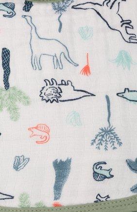 Детский комплект из трех нагрудников ADEN+ANAIS зеленого цвета, арт. ESNC30002 | Фото 2