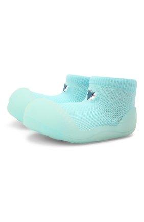 Детского домашние туфли ATTIPAS голубого цвета, арт. A20CO | Фото 1 (Материал внешний: Текстиль; Кросс-КТ: носочки)