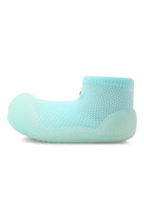 Детского домашние туфли ATTIPAS голубого цвета, арт. A20CO | Фото 2 (Материал внешний: Текстиль; Кросс-КТ: носочки)