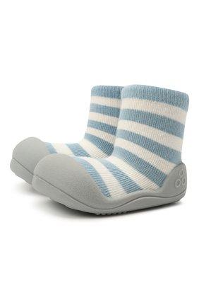 Детского домашние туфли ATTIPAS голубого цвета, арт. AN06 | Фото 1 (Материал внешний: Текстиль; Кросс-КТ: носочки)