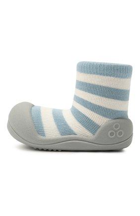 Детского домашние туфли ATTIPAS голубого цвета, арт. AN06 | Фото 2 (Материал внешний: Текстиль; Кросс-КТ: носочки)